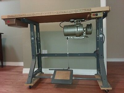 Industrial Sewing Machine Table With 1/2 Horse Motor