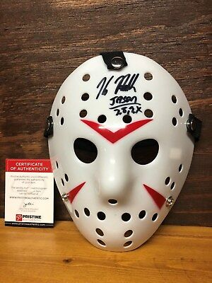 Kane Holder Signed Friday The 13th Mask With Pristine Auctions COA
