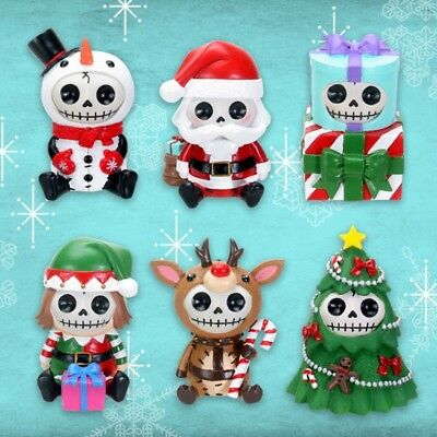 NEW Furrybones Seasonal Limited Edition Collection Set of 6 Christmas Figurines