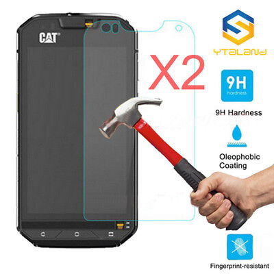 2X Lots HD Tempered Glass For CAT S60 Screen Protector Film Protective Glass