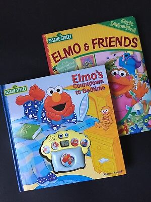 Sesame Street Lot Of 2 Elmo Book For Preschool Children Good Night Melody