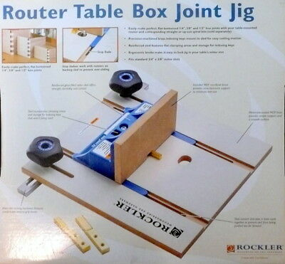 ROCKLER ROUTER TABLE BOX JOINT JIG  Item # 59032       [342]