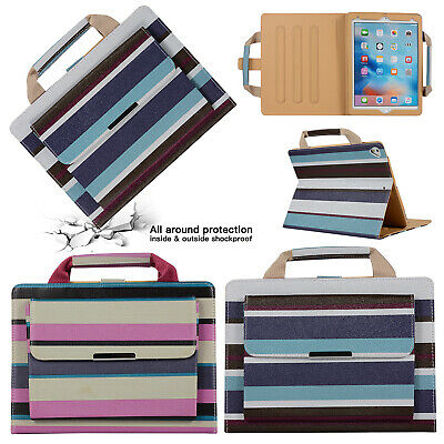 Smart Handbag Stripe Leather Magnet Stand Case Cover For iPad 9.7 2018/Air/Mini