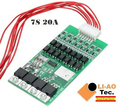 7S 20A Li-ion Lithium Battery PCB BMS 18650 Charger Protection Board
