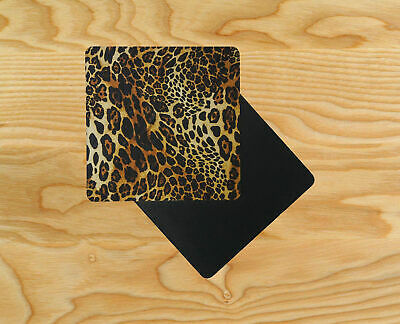 Animal Leopard Print Art Wooden Table Drink Coasters D10