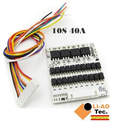 10S 36V Li-ion Lithium Cell 40A 18650 Battery Protection BMS PCB Board