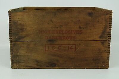 Vintage Independent Explosive Co. High Explosives Wood Box Wooden Crate