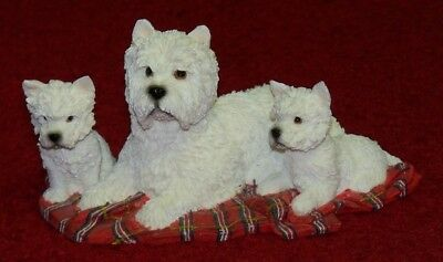 NEW UK Leonardo Collection, Waiting Patiently, West Highland Terriers - Boxed