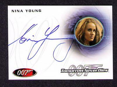 James Bond  007  Nina Young  Card # A172  Authentic Autograph