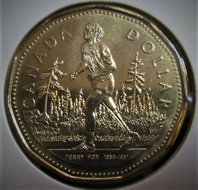 2005 $1 Dollar Canada Terry Fox Loonie - Mint State from Mint Roll
