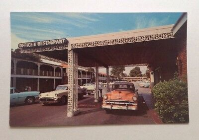 Old 1950's Town Park Motor Hotel Postcard ~ Memphis Tennessee ~ Old 50's cars