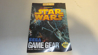 Star Wars - Sega Game Gear INSTRUCTION MANUAL ONLY