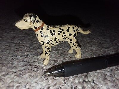 Vintage Miniature Folk Art hand carved wood dog dalmatian