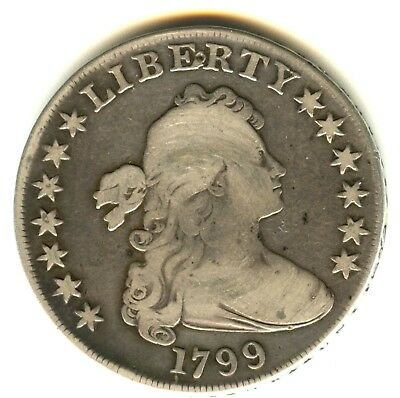 1799 Draped Bust Dollar VG +in Grade Check Variety Nicer In Hand