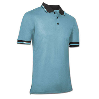 Champro Ump Dri-Gear Adult Baseball/Softball Umpire Shirt - Light Blue - XL