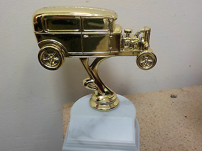 "auto racing, car show, award or trophy, Hot Rod figure about 5.5"", w/ engraving"