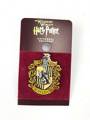 Universal Studios The Wizarding World of Harry Potter Hufflepuff Crest Pin