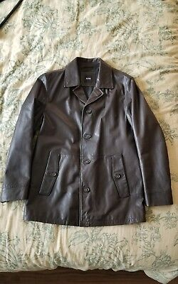 07e2e2a8a NWT HUGO BOSS LEKON BROWN LEATHER JACKET $695 Size 40 R - $469.99 ...