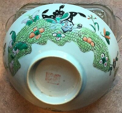 Chinese Famille Rose  Porcelain Bowl Enameled Paint and signed.