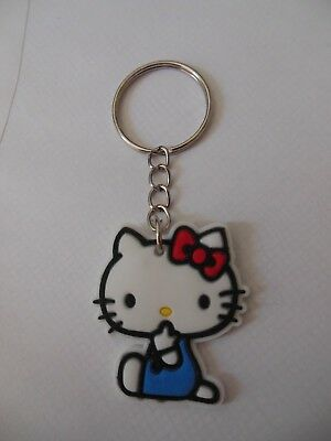 Hello  Kitty ** Keychain ***{ soft silicone } ** Free  Shipping