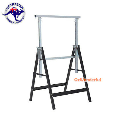 1pc Telescopic Trestle Saw Horse Foldable Steel Work Stand Workbench Support