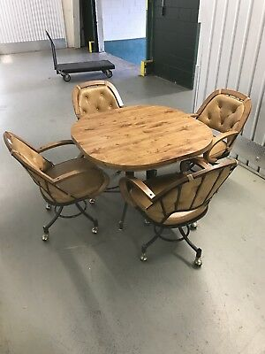 U.S. Furniture Industries Inc Dining Room Table 4 Chairs Vintage Mid Century