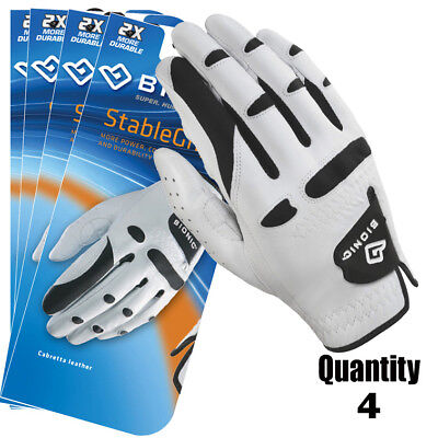 4 x Bionic Golf Gloves StableGrip - Mens Right Hand - White - Leather $27.95 ea