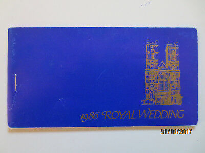 No---1-1986  ST. VINCENT   ROYAL  WEDDING  BOOKLET  --MINT  --TOPS