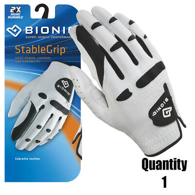 1 x Bionic Golf Gloves StableGrip - Mens Right Hand - White - Leather $31.95 ea