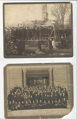 3 Concord Nh Ymca Cabinet Photographs-Laying Cornerstone; Business Dinner; Group