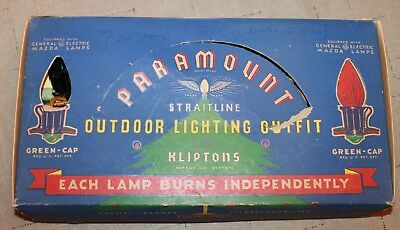 Vintage C9 Paramount Cloth Covered Christmas 7 Light String Cord