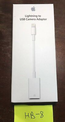 Original Apple Lightning to USB Camera Adapter with Box MD821AM/A iPad iPhone