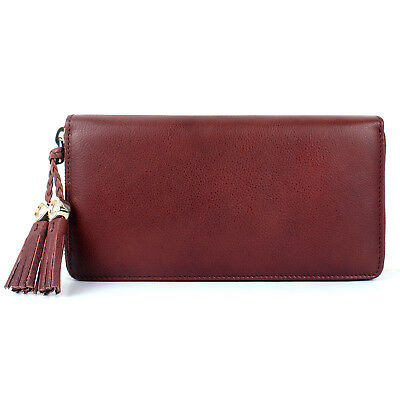 79b9699a8ae 100% AUTHENTIC GUCCI Leather GG Tassel Zip Around Long Wallet ...