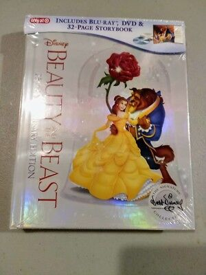 Beauty and the Beast 25th Anniversary Ed Blu Ray DVD Storybook TARGET EXCLUSIVE