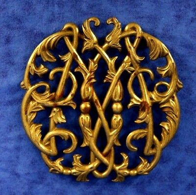 """Trivet 6"""" Brass Colonial Williamsburg Cypher 1950 Virginia Metalcrafters CW10-14"""