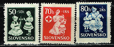 Slovakia WW2 Red Cross Children Help set 1943 MNH