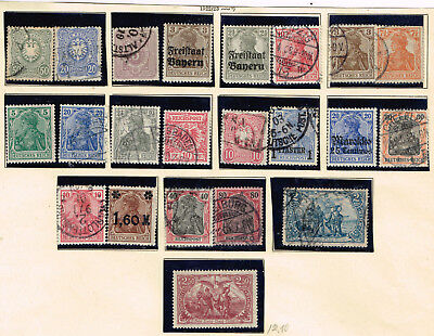Germany old classic stamps set 1900s