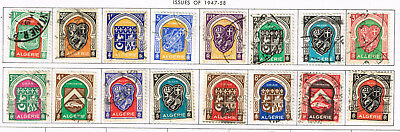 Algeria Coat of Arms 16 stamps long set 1947
