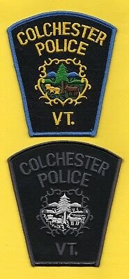 Colchester Police Department Patch Set ~ Vermont ~ Very Nice Artwork & Colors