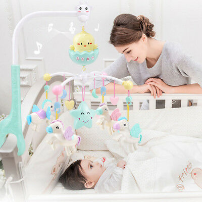 Baby Musical Crib Bed Cot Mobile Stars Dreams Flash Nusery Lullaby Toys
