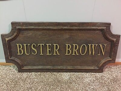 Vintage Buster Brown Advertising Sign Plaque