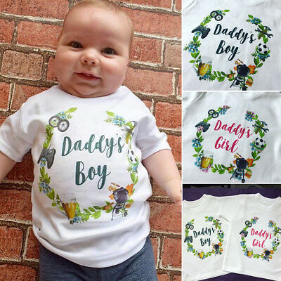 Family Matching Tops Little/Big Brother Sister T-shirt Newborn Baby Boy Clothes