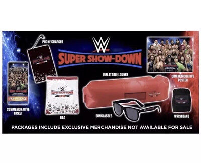 WWE Super Showdown VIP Package.**VERY RARE**