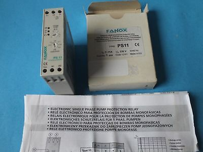 FANOX  Type: PS11 Motor voltage: 230V 50/60Hz Current range: 3-11A 1P
