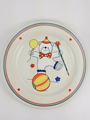 Circus Bear Child's Plate by EPOCH Stone Ware Made in Korea