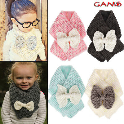 Neck Warmers Scarf Autumn Winter Warm Outfit Knitted Scarves Kids Boys Girls USA