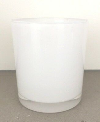 Oxford Transparent White Candle Jar Box of 12 with Lid Option Med L and XL Sizes