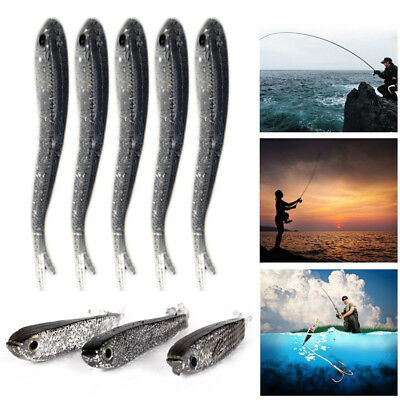 10pcs Soft Simulate Fishing Lures Silicone Tiddler Bait 7.5cm Minnow Fish Acces