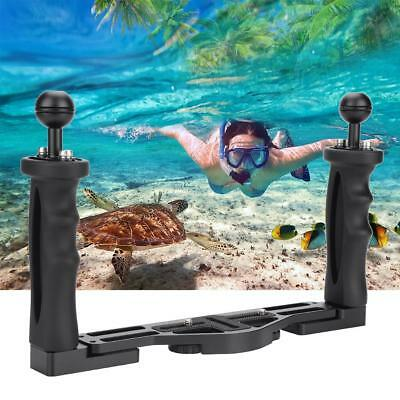 Dual Handheld Stabilizer Diving Camera Housings Tray Grip Bar with 1/4in Screws
