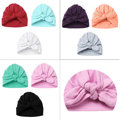 Newborn Baby Cotton Soft Stretchy Hospital Hat 3Pcs Infant Girl Boy Beanie Caps